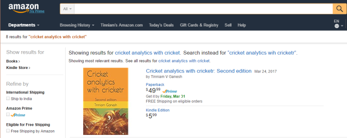 More book, more cricket! 2nd edition of my  books now on Amazon